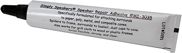 Speaker Repair Adhesive, Foam Edge, Spider, High Strength, Clear, MI-3035