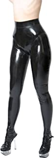 VsvoLatex Womens Latex Pants Leggings with Inner Condom