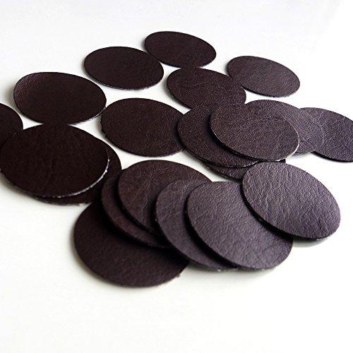 リサイクルレザー 革 ステッカー シール 20枚入 (チョコ)