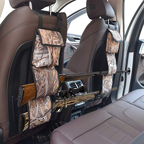 mydays Seat Back Gun Rack, Gun Sling Bag, Camo Front Seat Gun Organizer Holder for Hunting Rifles/Shotguns (Camo)