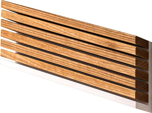 DUE CIGNI – Linea 7x2 – Messerblock zum Aufhängen aus Eschenholz für 6 Messer – Hergestellt in Italien