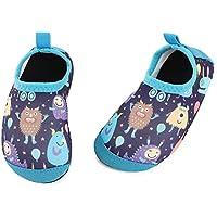 TIZAX Zapatos Verano de Agua para bebés Zapatos Escarpines Antideslizantes para niños Calcetines Descalzo de Secado rápido para Playa Piscina natación Monstruo Azul 20/21