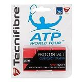Tecnifibre Overgrip Pro Contact ATP 3er - Mango de raqueta de tenis, talla standard, rojo