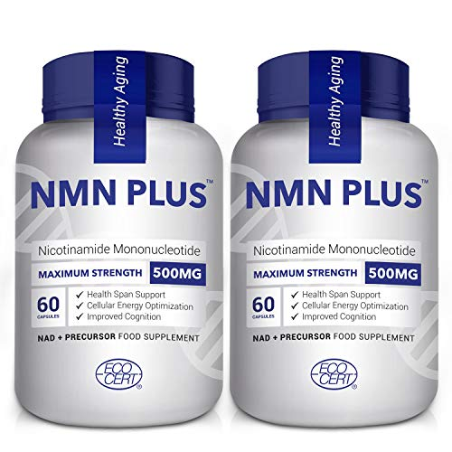 2 Pack 500MG NMN Capsules, Strongly Support Mental Performance & Anti Aging, Nicotinamide Mononucleotide for NAD Supplement, Third Party Test
