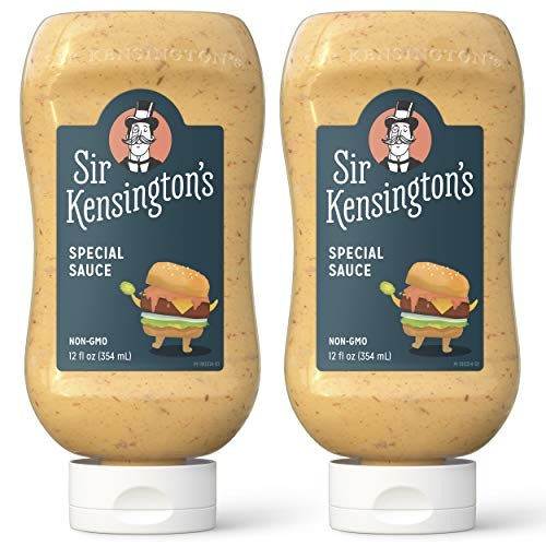 Sir Kensington's Mayonnaise, Special Sauce, Non-GMO Project Verified, Gluten Free, Certified Humane Free Range Eggs 12 oz (Pack of 2)