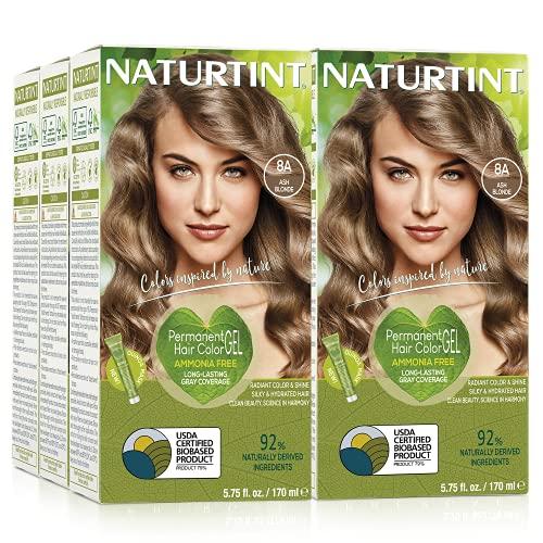 Naturtint Permanent Hair Color - 8A Ash Blonde, 5.28 fl oz by Naturtint