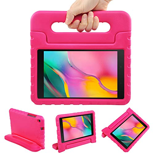 NEWSTYLE Kids Case for Samsung Galaxy Tab A 8.0 2019 (SM-T290/T295) - Toddler Lightweight Shockproof Portable Handle Stand Kids Case for Tab A 8.0 Inch 2019 SM-P290/P295 Release (Rose)