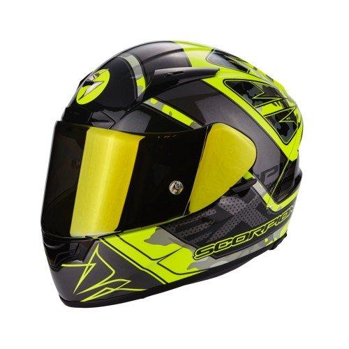 Scorpion Casco Moto EXO-2000 EVO AIR Brutus, Neon Yellow/Silver, L