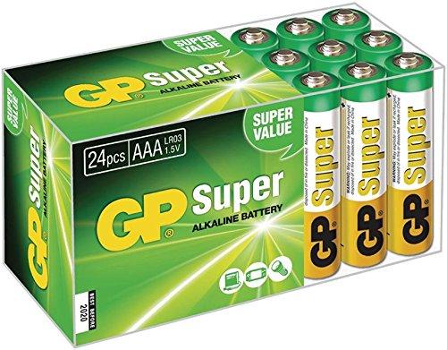GP Alkaline Batterie AAA 1.5 V Super 24-Fach, Super-AAA-Alkaline-Mignon Mignon Pack. Enthält (973977008636)