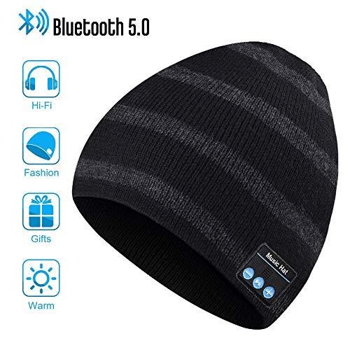 Bluetooth Beanie Hat, Regali per Uomo e Donna, Cappello a Cuffia Bluetooth 5.0, Lavabile Running Hat per Sport all'aperto, Migliore Regali per Uomo e Donna per Natale Compleanno Ringraziamento Giorno
