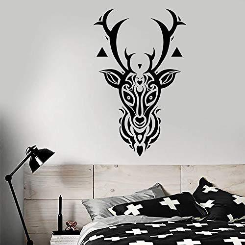 Tianpengyuanshuai muurtattoo dier bos hert hoofd vinyl sticker slaapkamer woonkamer