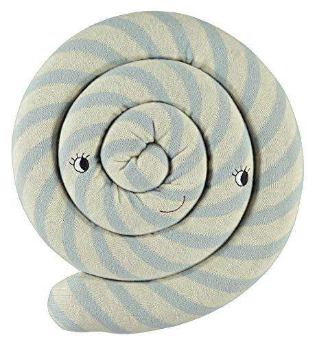 OyOy Mini Lollipop Cushion Blue - Süßes Hellblau Weiß Gestreiftes Baby Kinder Kissen Kuschelkissen und Schmusekissen - Baumwolle Durchmesser 30 cm