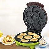 1yess Cartoon Waffle Machine Breakfast Maker for Bread Snack Cake Mini Home Riscaldamento a Doppia Faccia Macchina per Cucina, Antiaderente 220V DSB