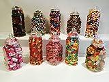 Lot de 10bocaux à bonbons vintage de style victorien - Kit pour buffet et bar à bonbons pour des fêtes - 1 Litre