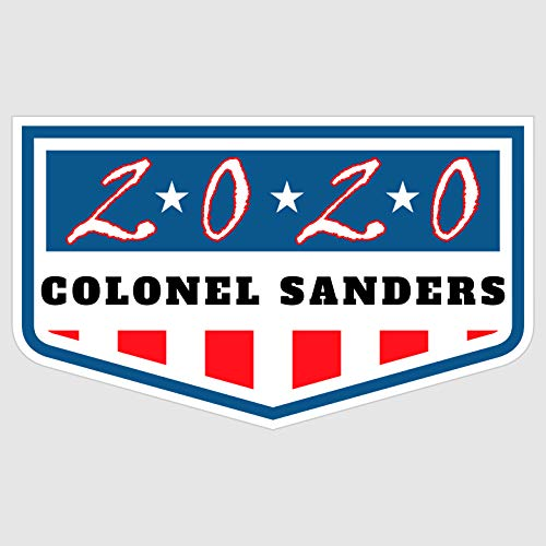 """WYCO Products - """"Colonel Sanders for President 2020"""" - Colonel Sanders '20 - Badge Election Sticker POTUS - poli111934-3 x5-S"""