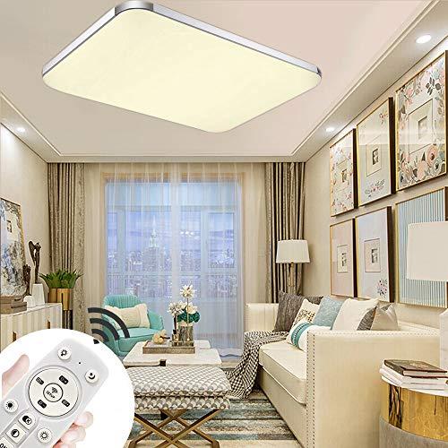 72W Luces de techo Lámpara de techo ultradelgada LED ultradelgada Lámpara de la sala de estar del dormitorio oficina moderno de la cocina (Regulable 3000-6500K) (72W Regulable)