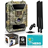 2021 LTE 4G Cellular Trail Cameras – Outdoor WiFi Full HD Wild Game Camera with Night Vision for Deer Hunting, Security - Wireless Waterproof and Motion Activated – 32GB SD Card + Sim Card (1-Pack)