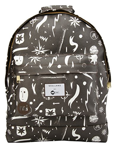 Mi-Pac Soulland Backpack Mochila Tipo Casual, 41 cm, 17 litros, Black/White