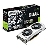 ASUS Dual GEFORCE GTX 1070 8GB OC Computer Graphics Card - PCI-E G-Sync 4K and VR Ready GPU (Renewed)