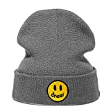 Drewhouse Knitted Hat Justin Bieber Cotton Casual Beanie for Men Mujer Winter Solid Color Hip-Hop Skullies Hat Unisex Drew House,Grey,One Size