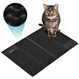 DADYPET Alfombrilla Gato, Mascotas Gatos Accesorios Cat Litter Mat Juguetes para Gatos Alfombra Gatos Arenero Esterilla Gato Impermeable Fcil de Limpiar (Negro)
