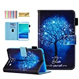 Dteck for Samsung Galaxy Tab 4 Case SM-T230nu Case/Nook Tablet 7 Cases and Covers, Slim Cute Case with Card Slots Wallet Cover for Samsung Tab 4 7-inch SM- T230nu T235 /Nook 7.0 Tablet, Shine Tree