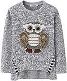 Sudadera con Estampado de búhos de Dibujos Animados para niñas niños 6-17 años, Manga Larga Jersey Pullover Blusa Camiseta Invierno otoño
