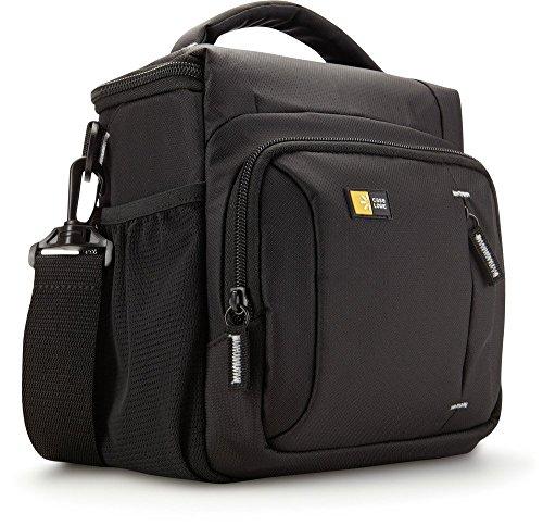 Case-Logic TBC-409 Borsa a Tracolla in Nylon per Fotocamera Reflex, 1-2 Obiettivi Addizionali e Tasche per Accessori, Nero