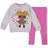 L.O.L. Surprise! Girls Clothing Set Toy Girls Hoodie & Legging Set (Grey/Pink Dots, 4)