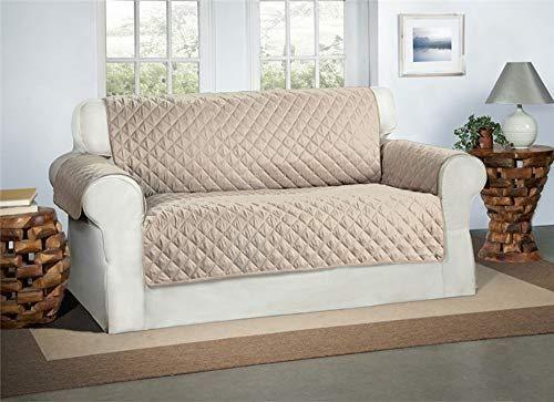 Safari Homeware Cubre Beige/Crema para Sofás de 2 Plazas - Protector para Sofás Muebles Acolchado