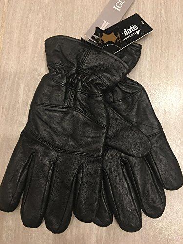 JA Herren Handschuhe aus italienischem Leder, Thinsulate-Isolation, Größe L, Schwarz