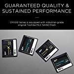 Silicon Power 128GB CFast2.0 CinemaPro CFX310 Memory Card, 3500X and up to 530MB/s Read, MLC, for Blackmagic URSA Mini… 7 EXCELLENT PERFORMANCE FOR 4K UHD CINEMATIC CAMERAS AND PROFESSIONAL CAMCORDERS- Designed for professional photographers and videographers, the CFX310 features superior performance that enables uninterrupted and cinema-quality 4K video recording. BLACKMAGIC APPROVED- Blackmagic approved and 2160p ProRes 422 HQ 60fps certified. The CFX310 delivers ultra-fast speed of up to 530 MB/s read that lets you quickly transfer large files from the card to your computer. MULTIPLE TECHNIQUES SUPPORTED - Supports Power Shield/ Global Wear-Leveling/ Advanced Garbage Collection/ TRIM /DEVSLP