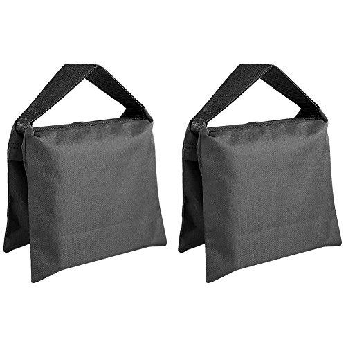 Neewer® 2 Pack Set Schwerlast Sandsack Studio Video Bühne Film Sattel Tasche für Lichtstative Boom Arm Stativ schwarz
