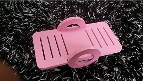 Leayao Small Animal Seesaw for Hamster and Guinea Pigs Funny Toys Play Small Toy Animal Playground Pink