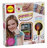 Alex- Brazaletes Shamballa, Color Plata (Juratoys 734S)