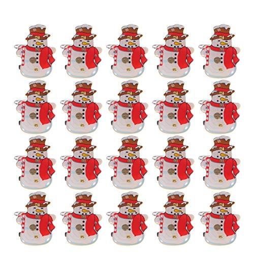 Amosfun 50 unidades de broches brillantes de Navidad con diseño de muñeco...