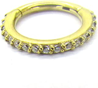 20G-18G-16G-14G-12G-10G-8G 316L Steel Clicker Segment Nose Hoop Ring