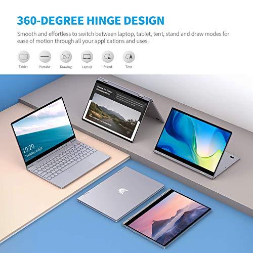 BMAX Y13 Notebook 2 in 1 Touchscreen Convertible Portatile PC 13.3 pollici 1920x1080 FHD Blacklit Keyboard (Intel Quad Core N4120, 8GB RAM + 256GB SSD, Windows 10) Type C