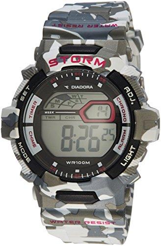 Diadora Herren Digital Quarz Uhr mit Plastik Armband DI-016-02