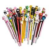 Sencoo 24 pack Erasable Black Cute Cartoon Gel Pens Creative Stationery Students Prize Pens Children Birthday Present
