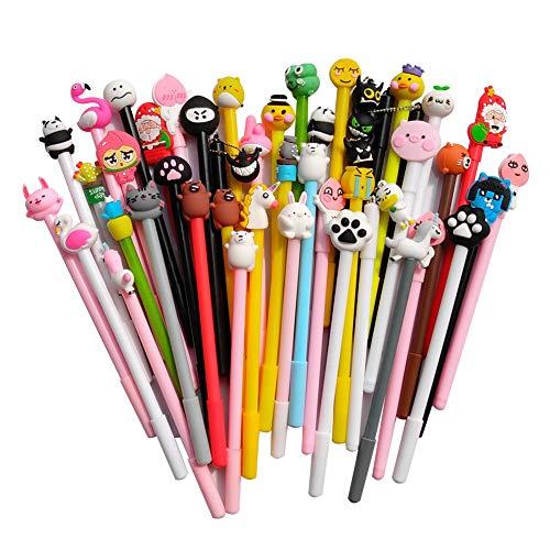 SENCOO 24 pcs Cute Cartoon Gel Black Ink Pens Assorted Style Writing Pens for Birthday Present School Prize Student Fun Girl Pens