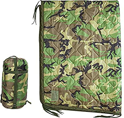 USGI Industries Military Camo All Weather Woobie Poncho Liner Blanket (Woodland)