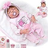 ZIYIUI (Muñeca Reborn Bebé )23inch Juguete Realista de Muñecas 58cm Vinilo de Silicona de Algodón Reborn Baby Doll