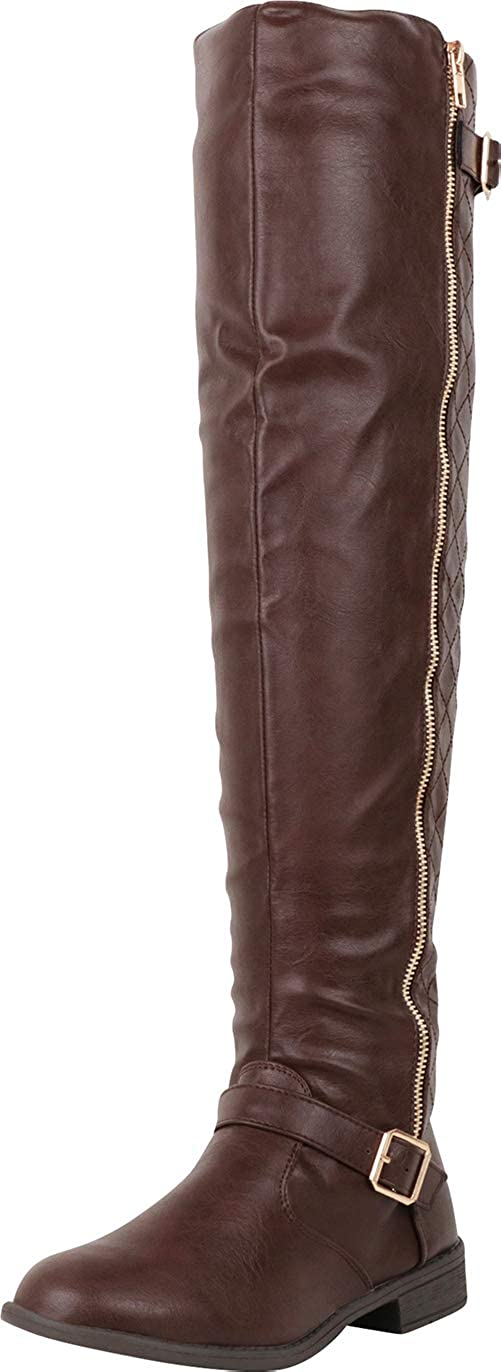 Cambridge Discount mail order Select Women's Thigh-High Strappy The Buckle Over Knee Free shipping