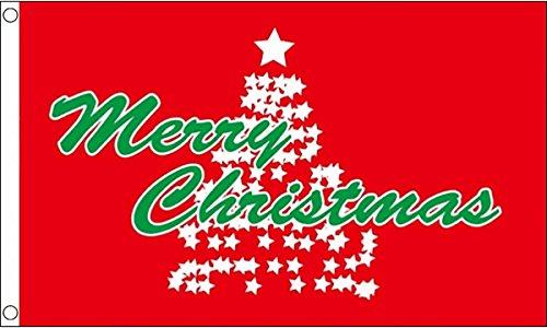 GIZZY Merry Christmas Star Tree 5' x 3' flag