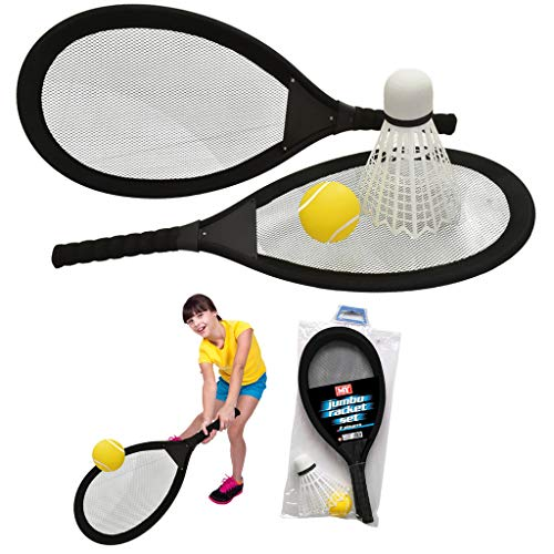 65cm Jumbo Tennis Badmintonschläger mit Federball und Tennisball