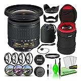 Nikon AF-P DX NIKKOR 10-20mm f/4.5-5.6G VR Lens (20067) USA Model Bundle Package with Padded Lens Case + Macro Filter Kit + UV, CPL, FL Lens Filters + Tulip Hood + Lens Cap Keeper + Lens Cleaning Kit