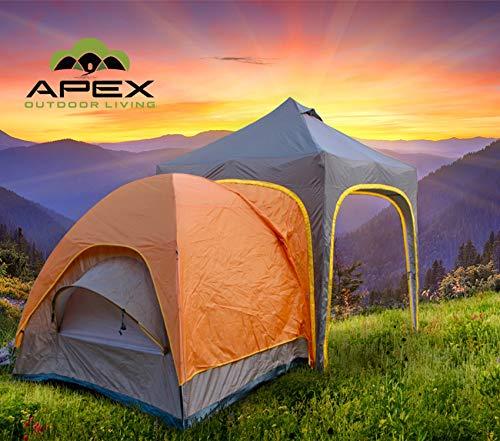 Undercover UC Apex Camping Tent, Size 170 SQF, Orange/Tan