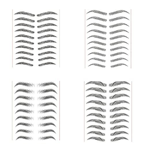 paires d'autocollants de sourcils bioniques, 40 paires d'autocollants de sourcils bioniques 6D de longue durée autocollants de maquillage de sourcils imperméables naturels imperméables (noir)
