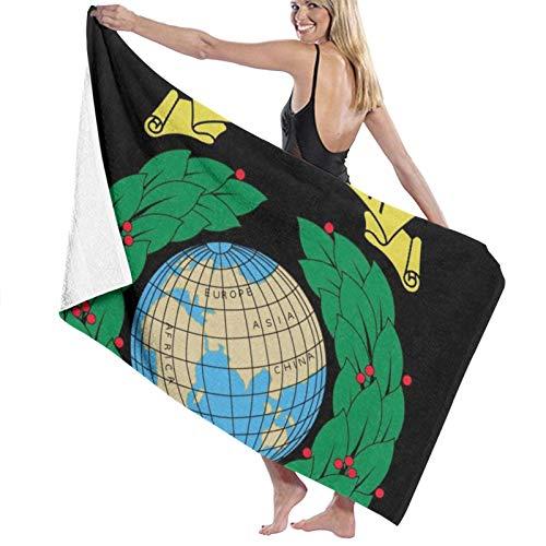 Custom made Toalla de baño con logotipo de Royal Marines, extragrande, 80 x 130 cm, suave, altamente absorbente, ideal para viajes diarios, camping, gimnasio, piscina, sillas de playa, tamaño único